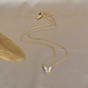 Kate Spade Golden Shell Butterfly Pendant Necklace
